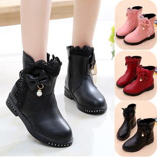 Девочки ботинки осень и зима 2020 новый бархат ботинки натуральная кожа принцесса ботинки ребенок снег сапоги девочка мокасины