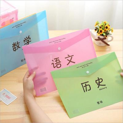 A4 Language Mathematics History Test Paper Storage Bag File Holder