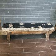 Trung quốc rắn gỗ hình chữ nhật băng ghế dự bị giày thay đổi phân sáng tạo đơn giản giặt ghế lớp retro đá băng ghế dự bị qua ghế