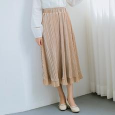 【6262#不低于69】秋冬chic丝绒百褶裙中长款a字金丝绒半身裙女