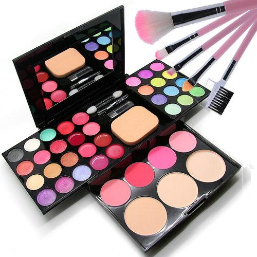 Mới bắt đầu người mới mỹ phẩm gói chính hãng make- up bảng màu trang điểm thiết lập bộ đầy đủ của bột bóng mắt pearlescent