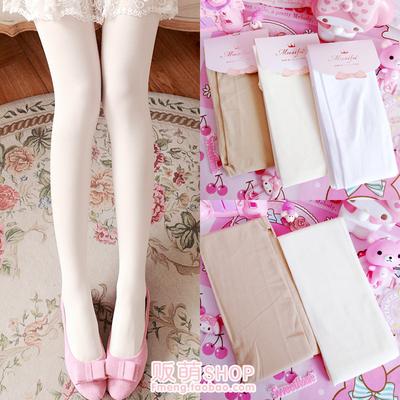 taobao agent Japanese soft sister girl lolita milk white pantyhose retro white stockings bottom socks