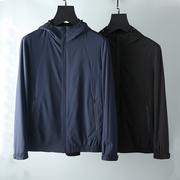 Lụa bông độn trọng lượng nhẹ không thấm nước vải nam đội mũ trùm đầu bông phần mỏng bông áo khoác mùa đông áo khoác nam