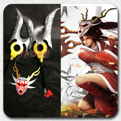 taobao agent 【Long Ting】LOL League of Legends cosplay props/Akali Ghost Dancer Edition/Full set of weapons and equipment