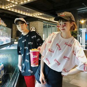 (女装)2018新款情侣装夏装宽松印花短袖T恤衫A358-1110-p38