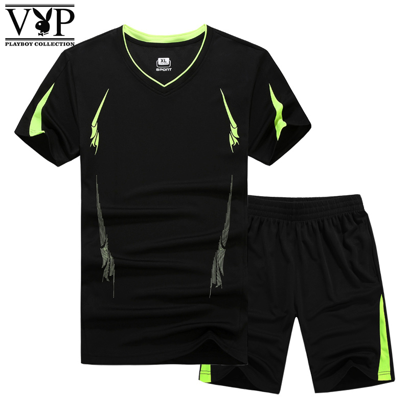 花花公子贵宾套装男2018新款运动套装男士夏季短裤T恤运动装套装