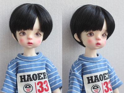 taobao agent 【Kaka Planet】6 points 4 points 3 points Uncle BJD baby wig high temperature wire 37 points black short hair