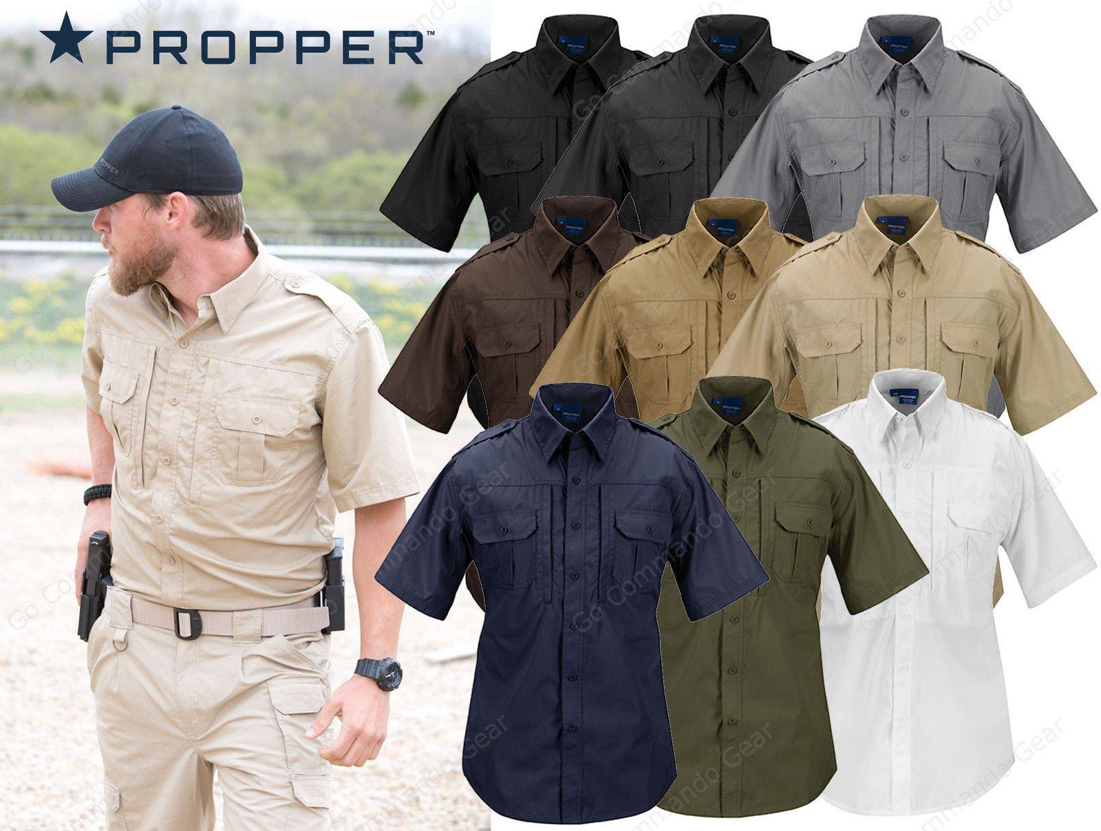 Mỹ PROPPER nhanh chóng làm khô chiến thuật áo sơ mi nam ngoài trời TefIon không thấm nước chống bẩn ẩm hấp thụ áo sơ mi giản dị ngắn tay áo