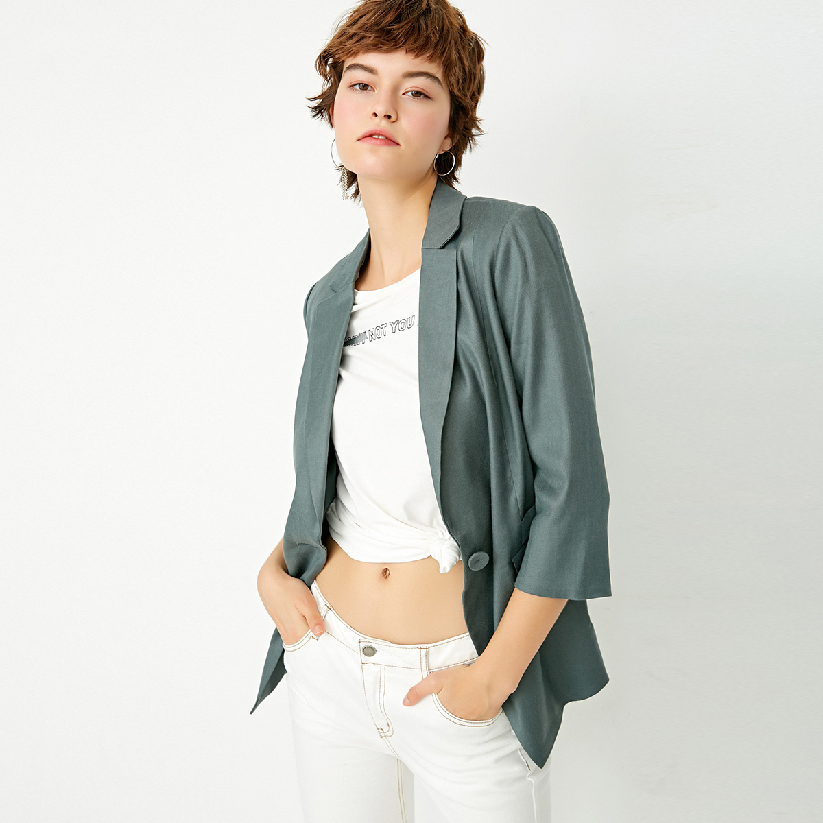 CHỈ mới bảy điểm tay áo mỏng phù hợp với nữ thường phù hợp với | 117308506