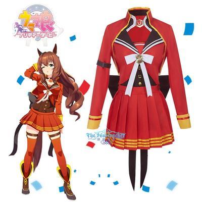 taobao agent Nutcracker COS Race Horse Girl Winning Suit Maruzensky Anime Cosplay Costume Customization F0180
