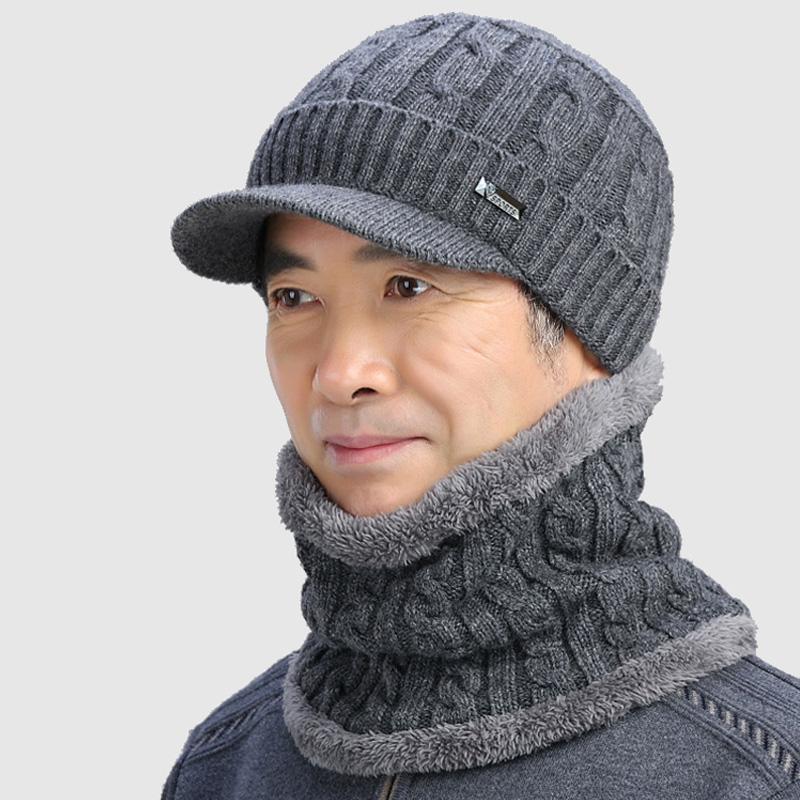 中老年<font color='red'><b>帽子</b></font>男冬季针织毛线帽加厚保暖