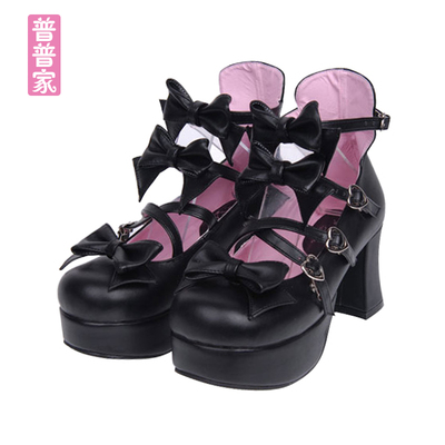 42agent 2017 new COS anime women's shoes LOLITA women's shoes Lolita Princess shoes bow dress shoes 9870 - Taobao