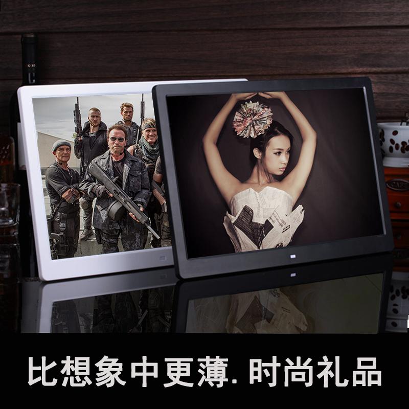 Lithium 15 inch khung ảnh kỹ thuật số 10 inch độ nét cao điện tử album ảnh LED màn hình âm nhạc khung ảnh movie video player