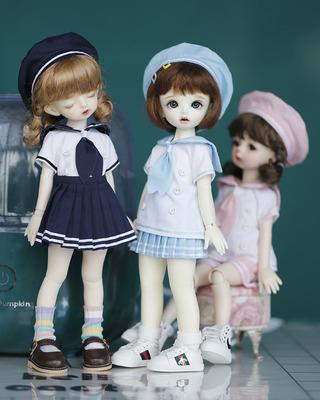 taobao agent 6 points bjd baby clothes SD YOSD navy feng sai hand uniform uniform school uniform hat 3 piece set