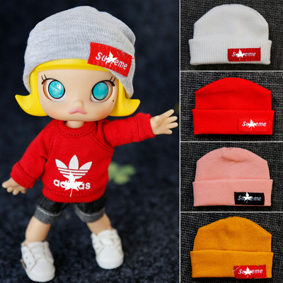 taobao agent ob11 baby clothing accessories molly GSC clay head bjd8 points can be worn trendy knitted hat multi-color
