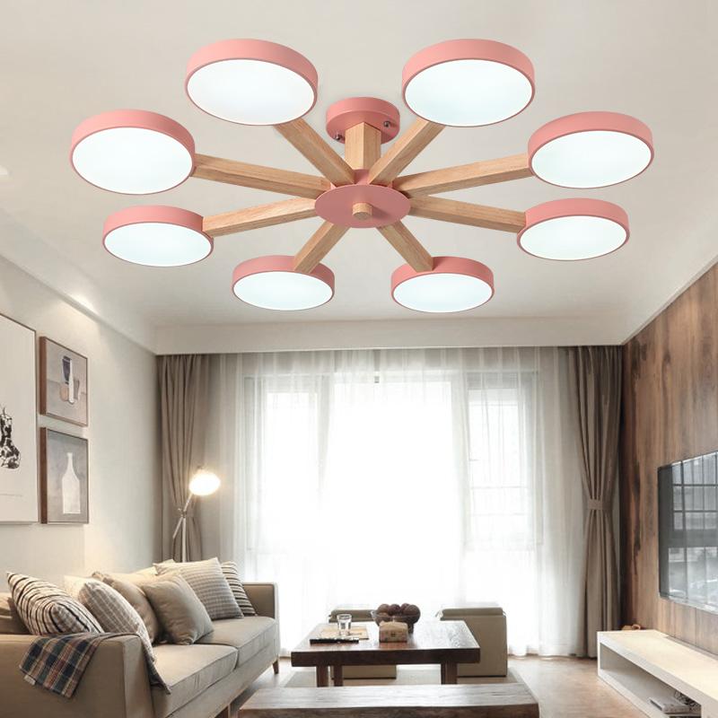 马卡龙彩色北欧风格吊灯客厅灯简约现代卧室个性创意led吸顶灯