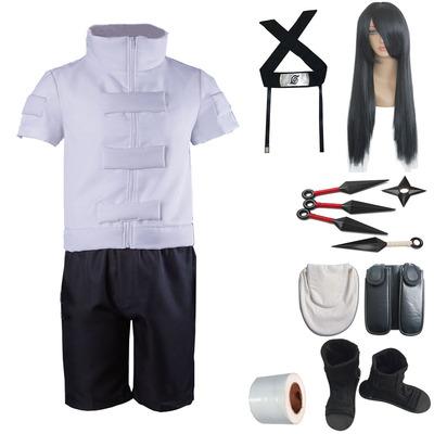 taobao agent Naruto COS Hyuga Neji cosplay full set of men's clothes, man show costume, wig