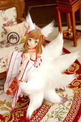 taobao agent 【Meow House】Fox's Nine Tails 3 points 4 points DD MDD1/4BJD Kimono Miko wearing Nine Tails Set SD baby clothes
