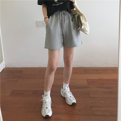 taobao agent Muzi 21 summer / comfortable and easy to wear! Hemming/conventional 2 lengths, all-match loose casual sports shorts women