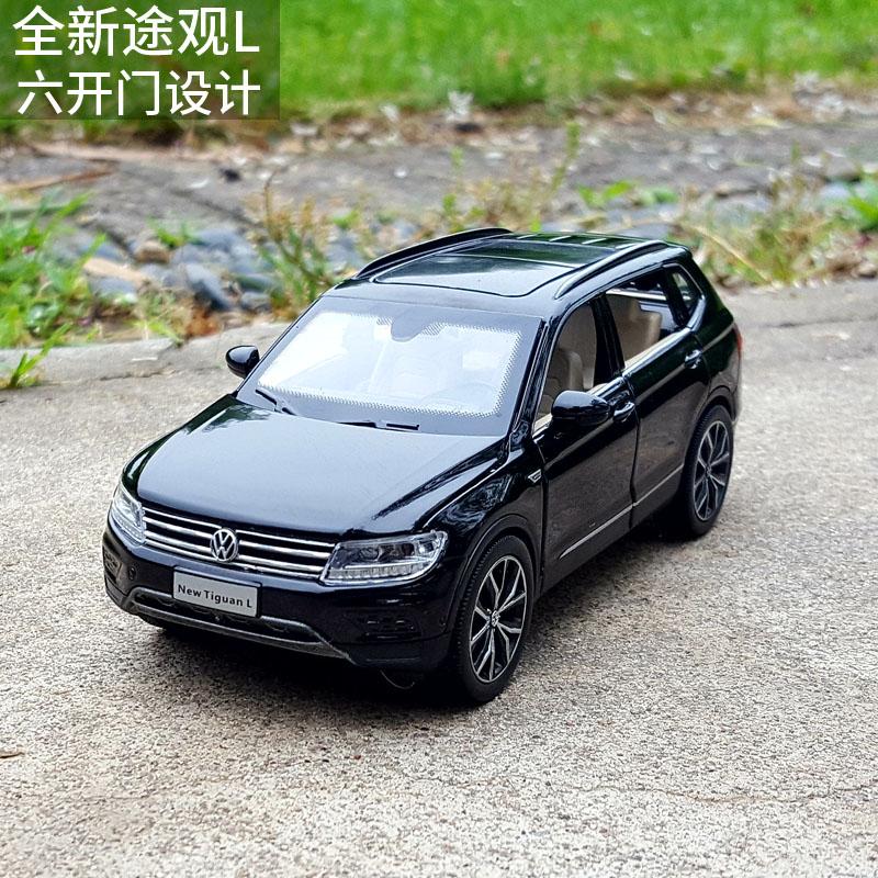 1:32 Mẫu xe hợp kim của Volkswagen Tiguan L Off-road SUV Mô phỏng gốc Kim loại Trang trí xe Kéo lại Đồ chơi Xe - Chế độ tĩnh