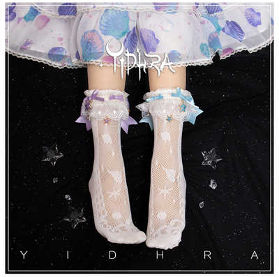 taobao agent Yidhra Dream Witch Original {Akuya Tears of the Sea} Lolita Socks, Socks, Lolita Shells
