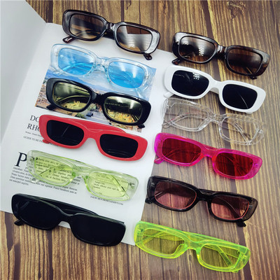 taobao agent 2020 Net Red Fengfan FF Same Sunglasses Black Thick Frame Jelly Color Small Frame Glasses Trendy Bungee Sunglasses