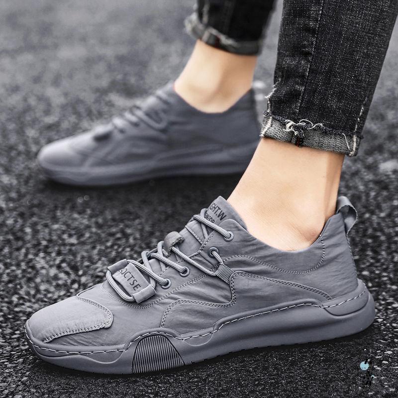 抖音男士夏季帆布鞋冰丝休闲鞋运动鞋男鞋