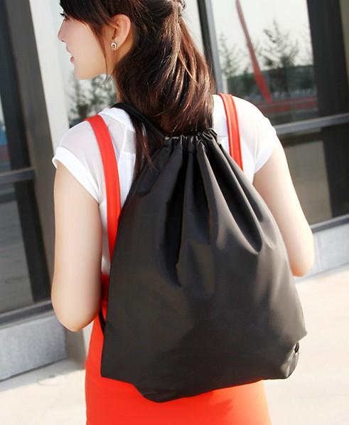 Dây rút túi ba lô Dây Kéo thể thao túi vải không thấm nước giản dị túi unisex lớn có thể giữ bóng rổ
