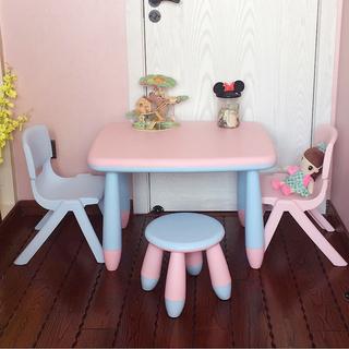 Двойной слой скольжение ребенок пластик ребенок обеденный стол отправить набор наряд детский сад запись столы и стулья игрушка стол  1 крышка