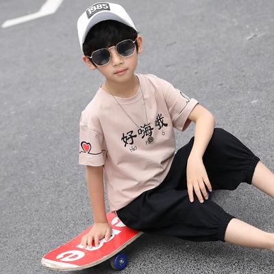 男童夏季纯棉短裤短袖两件套