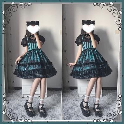 taobao agent Full pre-sale Xing Fu Song original lolita witch cat black sweet Halloween Lolita JSK dress
