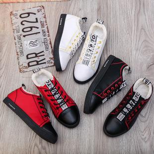 冬季韩版潮男鞋加绒保暖棉鞋