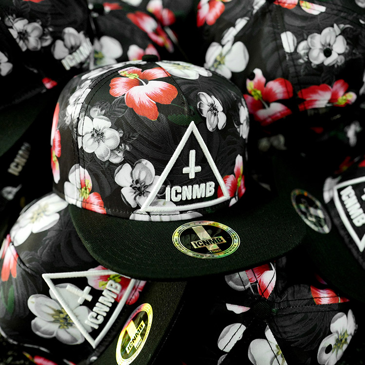 The United States ICNMB retro cap children flat brim hip-hop cap tide brand  genuine Korean baseball cap tide summer flowers 145d95eb5e1