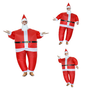 Christmas decorations Santa Claus snowman inflatable costume parent-child activities annual meeting performance costume party costume