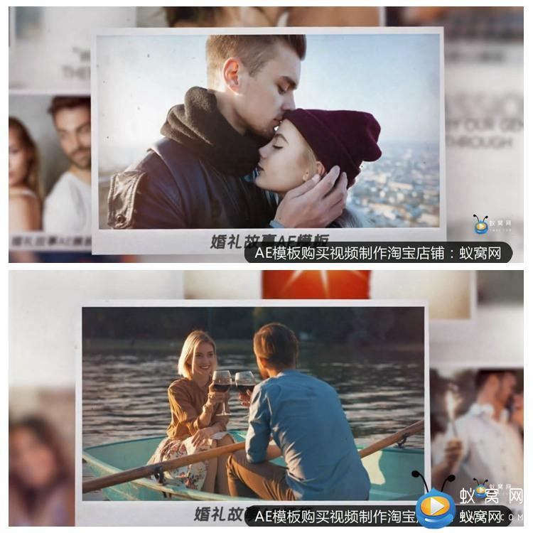 F210 AE模板 我们的浪漫温馨婚礼故事电子相册 开场片头 视频