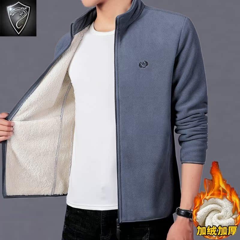 铁蜥盾2019男士新款冬季韩版加绒加厚保暖外套时尚休闲夹克外套潮