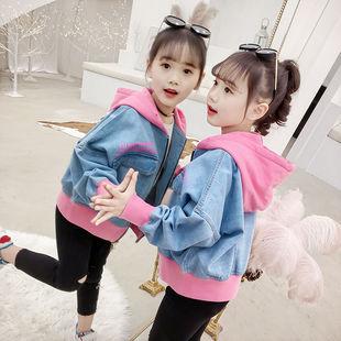 女童外套牛仔韓版休閒時尚夾克潮外套