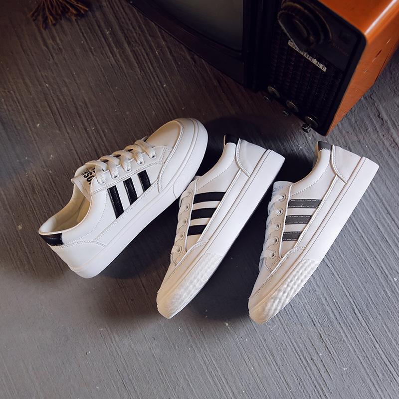 2020新款韩版小白鞋平底圆头女鞋低帮休闲单鞋女士白鞋学生鞋,免费领取100.00元淘宝优惠卷