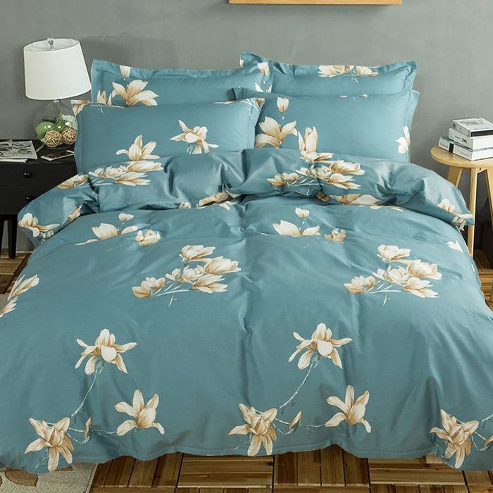 水洗棉被套四件套磨毛被套单件床单枕套