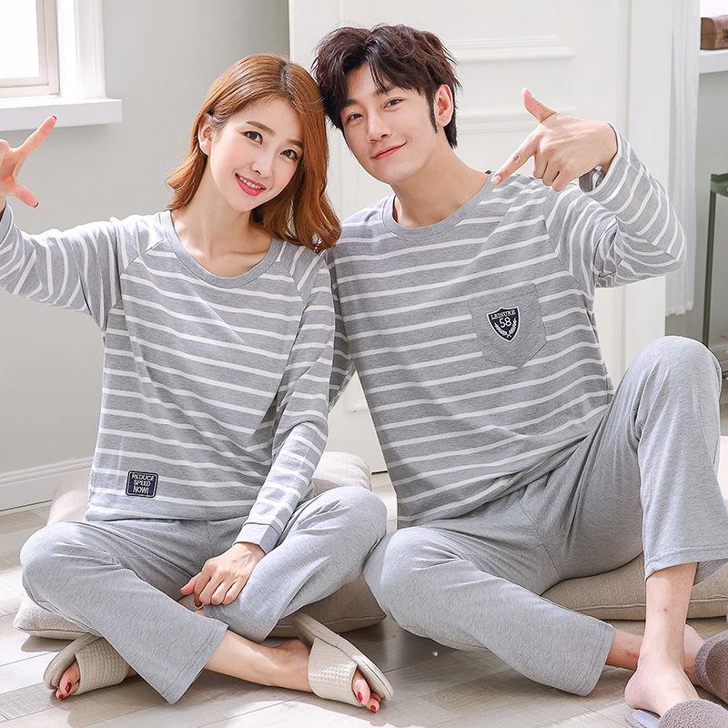 春秋款韩版学生卡通纯棉长袖家居服套装