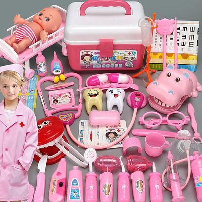 儿童过家家医生玩具套装男孩女孩带声光打针听诊器医药手提箱玩具