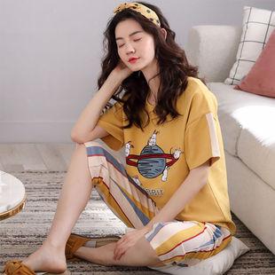 睡衣短裤韩版七分裤休闲家居服女套装