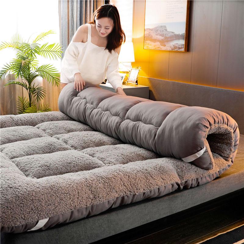 加厚羊羔绒床垫软垫家用榻榻米学生宿舍单人租房专用海绵褥子垫被
