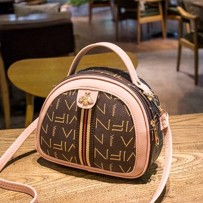 2021新款女包休闲单肩包女时尚印花手提包女士小包斜挎包女小圆包