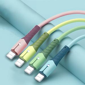 苹果数据线快充iPhone6s液态软胶手机充电线7/8/11plus/X通用ip66