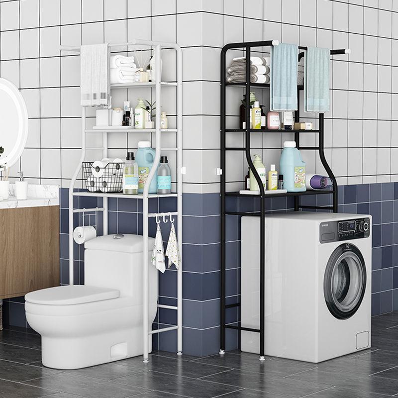 浴室洗衣机置物架子落地滚筒翻盖阳台储物柜厕所卫生间马桶收纳架