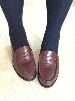 taobao agent Japanese genuine BL student shoes round head high and low heel jk uniform shoes college style men and women COS shoes flat large size