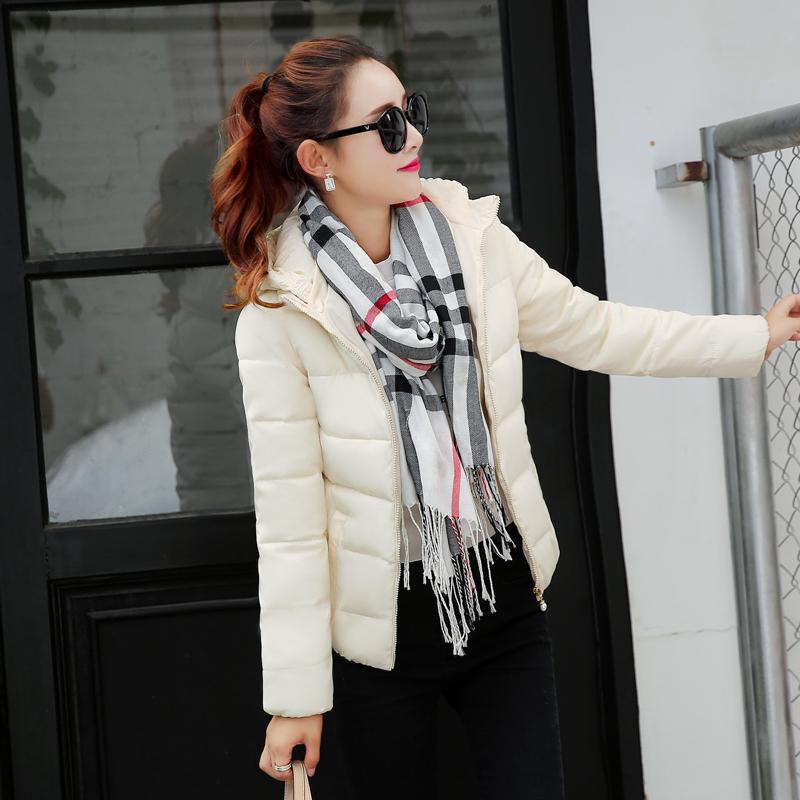 修身百搭时尚短款保暖羽绒棉衣