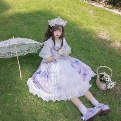 taobao agent Original Lolita lolita sky city soft girl Japanese jsk sling dress dress fairy summer
