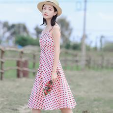 3652#视频大图都有定价不低于72【现货实拍】甜美波点连衣裙